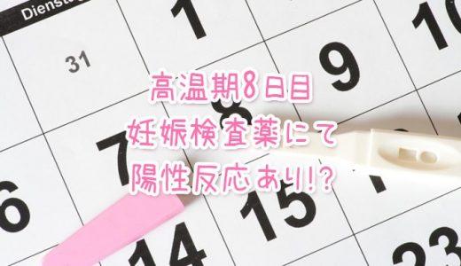 高温期8日目のフライング妊娠検査
