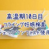 高温期10日目_フライング妊娠検査